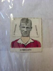 1961-DC-Thompson-Club-Colours-Cut-Out-Arbroath-J-Crawford-No-obvious-faults