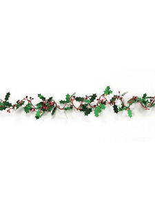 6ft-Holly-Berry-Foil-Garland-Christmas-Party-Decoration