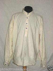 Muslin Shirt - Off White w/Pewter Buttons - XLarge - Civil War - L@@K!