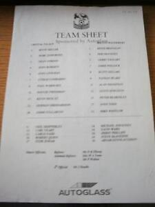 27-09-1997-Teamsheet-Crystal-Palace-v-Bolton-Wanderers-Folded-No-obvious-fau