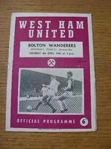 04-04-1964-West-Ham-United-v-Bolton-Wanderers-Creased-Folded-No-obvious-fau