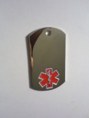 Medical Alert Dog Tag Necklace Free Engraving Front and Back FREE SHIPPING on Rummage