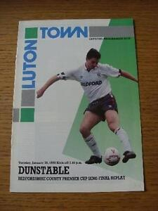 30-01-1990-Bedfordshire-Premier-Cup-Semi-Final-Replay-Luton-Town-v-Dunstable