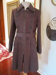 Anthropologie-elevenses-DARK-BROWN-MILITARY-BUTTON-STYLE-TRENCH-12
