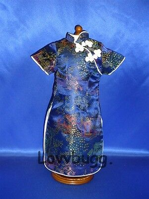"Lovvbugg Blue Chinese Dress for 18"" American Girl n Bitty Baby Doll Clothes"