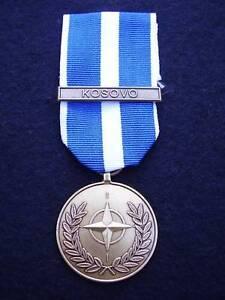 BRITISH-ARMY-PARA-SAS-RAF-RM-SBS-F-S-NATO-Military-Medal-Ribbon-Clasp-KOSOVO