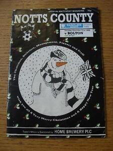 31-12-1988-Notts-County-v-Bolton-Wanderers-Creased-No-obvious-faults-unless