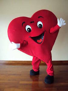 special offer love heart adult mascot costume for valentines day party. Black Bedroom Furniture Sets. Home Design Ideas