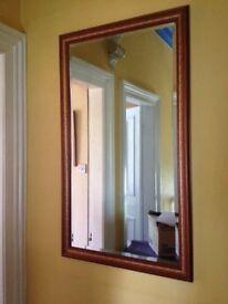 large rectangular wall mirror decorative wood frame