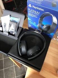 Ps4 Platinum headset new condition please read the description leamington spa