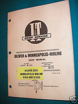 Oliver 2255 And Minn-moline G955g1355 It Shop Manual
