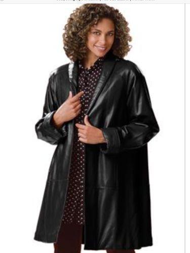 Leather swing jacket