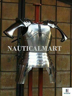 Medieval Halloween Half Suit of Breastplate Armour With Helmet Wearable Costume