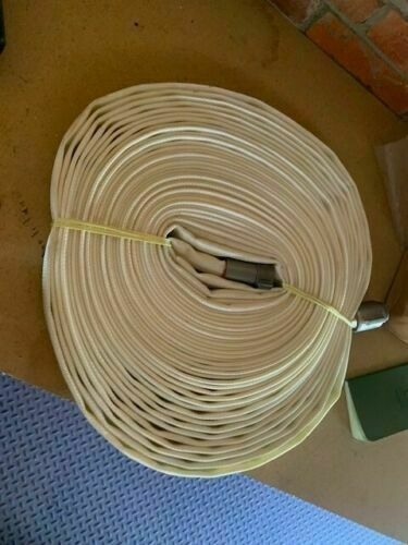 White 1IN x 100FT Single Jacket Hose (Alum NH Couplings) NOS