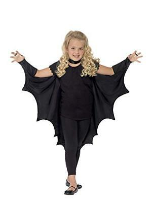 Smiffys Kids Unisex Vampire Bat Costume, Wings, Black, One Size,  44414 - Vampire Costumes