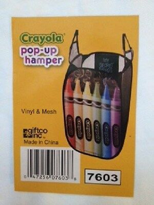 Kids Crayola Pop-Up HamperTOYS/CLOTHES with Straps for hanging.FREE - Pop Childrens Clothing