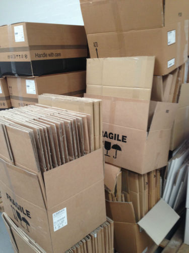 Cardboard Boxes of various sizes approximately 300 OFFER - buy as many as you want from 40p per box