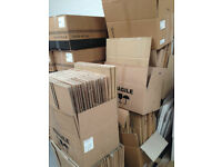 Cardboard Boxes of various sizes approximately 200 - buy as many as you want from 40p per box