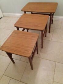 Schreiber Retro Vintage Nest Of Tables 1970's