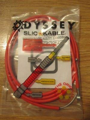 RED ODYSSEY BRAKE LEVER 1.5MM SLIC KABLE CABLE BNIP BMX STUNT GYRO NEW