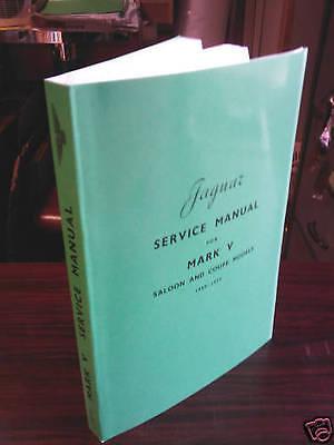JAGUAR MK V 1950 Workshop Manual Handbook 1949 - 1950 Service Repair Instruction