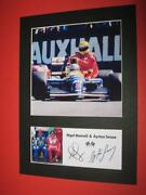 Nigel Mansell Signed