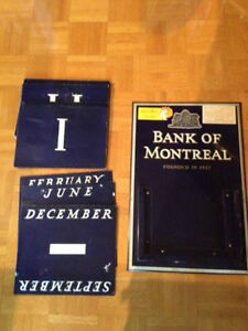 Vintage Rare Bank of Montreal Perpetual Wall Calendar West Island Greater Montréal image 2