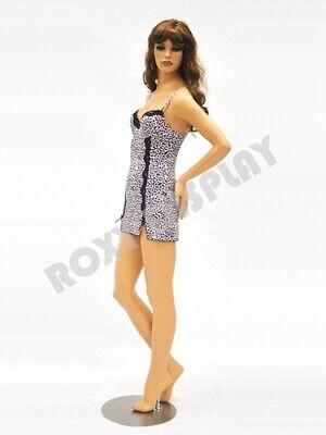 Pretty Face Female Fiberglass Mannequin Fleshtone Dress Form Display Md-fr4