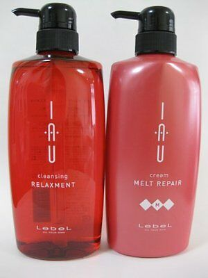 LebeL IAU cleansing relaxment Shampoo and Treatment 600ml Set from JAPAN F/S