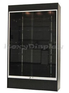 Wall-Black-Display-Show-Case-Retail-Store-Fixture-with-Lights-Knocked-down-WC4B