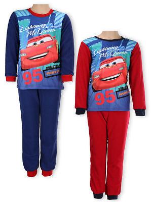 Disney Cars Kinder Jungen Polar Fleece Schlafanzug Gr.98-128 langarm Pyjama neu! ()