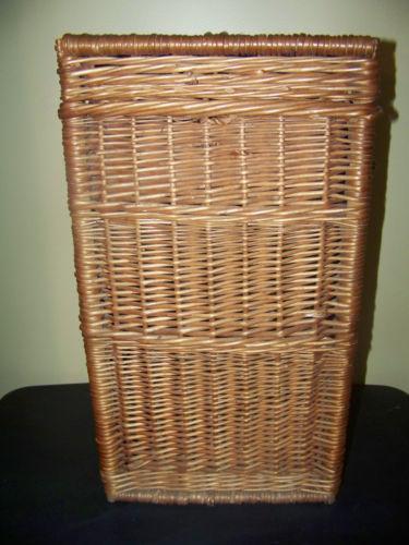 Vintage wicker hamper ebay - White wicker clothes hamper ...