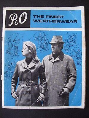 The P. & O. RANGE – WORLD'S FINEST WEATHERWEAR Price List 1969