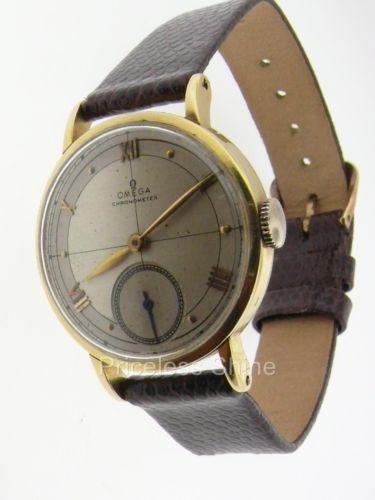 vintage omega mens gold ebay