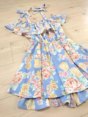 LIZ LISA Romper Dress Japan-M Pastel floral Hime&Lolita Gyaru Romanitic Fashion