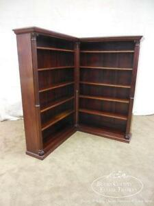 Holder Case Rack Antique Wooden Extending Book Shelf