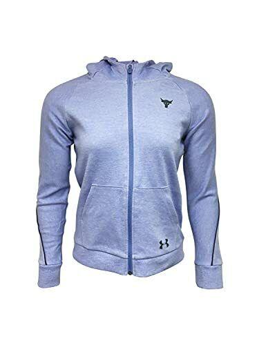 Under Armour Girls Full-Zip Jacket Cotton/Polyester Blend Purple 14-16 L 1348...