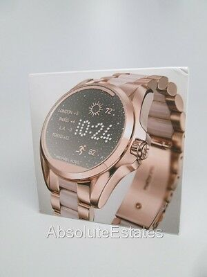NEW Michael Kors Access Touch Screen Pink Rose Gold Bradshaw Smartwatch MKT5013
