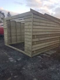 Pent field shelter 12ft x 12ft , stable , tack room , horse , pony.