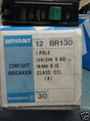 Bryant 12 Br130 Circuit Breaker New
