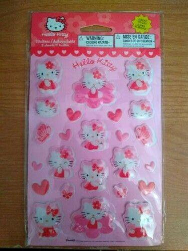 Hello Kitty Puffy Stickers Sanrio 1976, 2008 New!