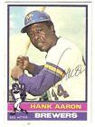 Hank Aaron Autograph Baseball Cards