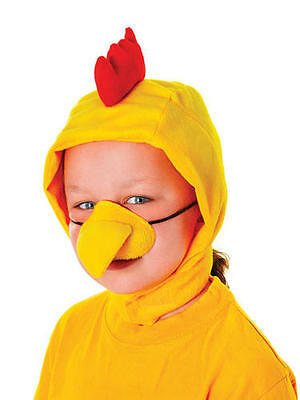 Childrens Chicken Fancy Dress Kit Set Costume - Hood & Nose Farm Animal - Costume Animal Noses