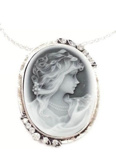 Antique cameo jewelry ebay antique cameo necklace aloadofball Choice Image