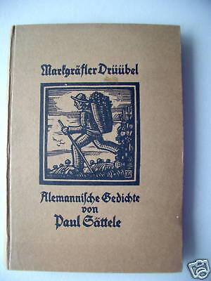 Markgräfler Drüübel Alemannische Gedichte 1925