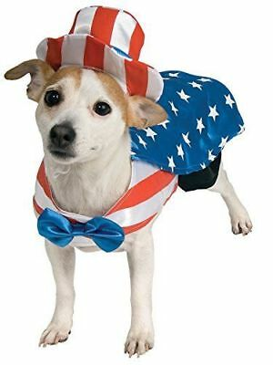 Rubie's Pet Shop Halloween Uncle Sam Red White Blue Pet Dog Size Medium Costume
