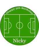 Football Pitch Cake Topper