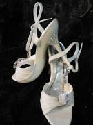 White Rhinestone Heels
