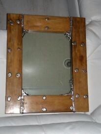 Vintage retro reclaimed driftwood Handmade mirror . beautiful piece