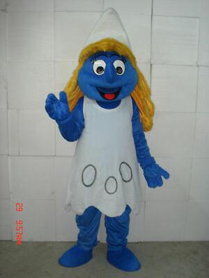 2019 Carnival Mascots Smurfette smurf For Women Costume Cartoon Fancy Dress - Womens Smurf Costume
